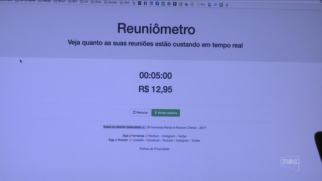 ''Reuniômetro'' calcula valor gasto com tempo destinado à reuniões em empresa