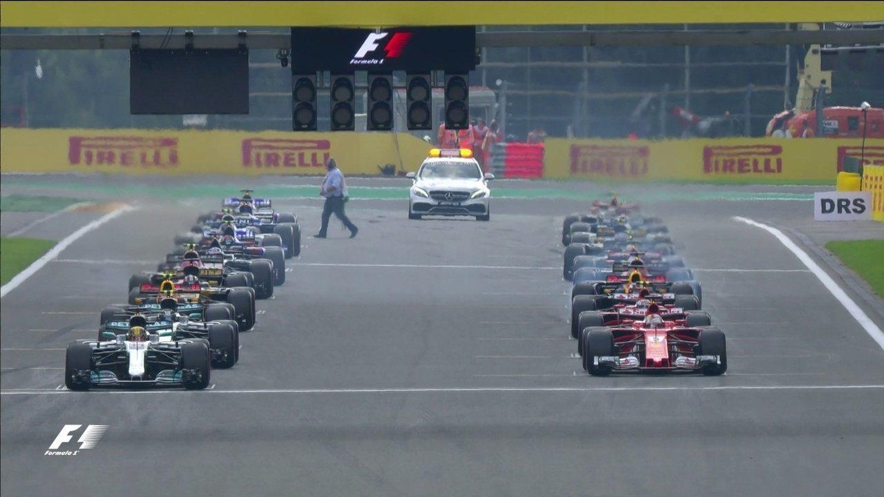 Confira a largada do GP da Bélgica