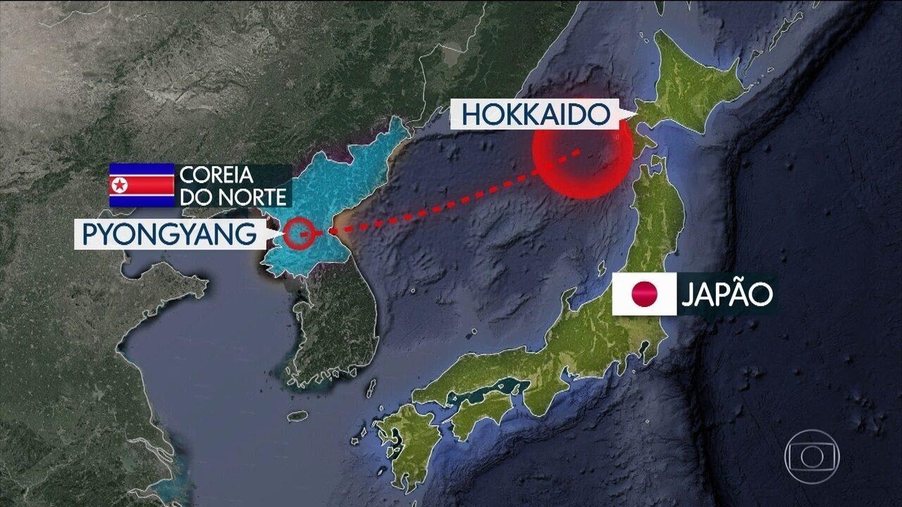 Resultado de imagem para Missil da Coreia do Norte sobrevoa o Japão