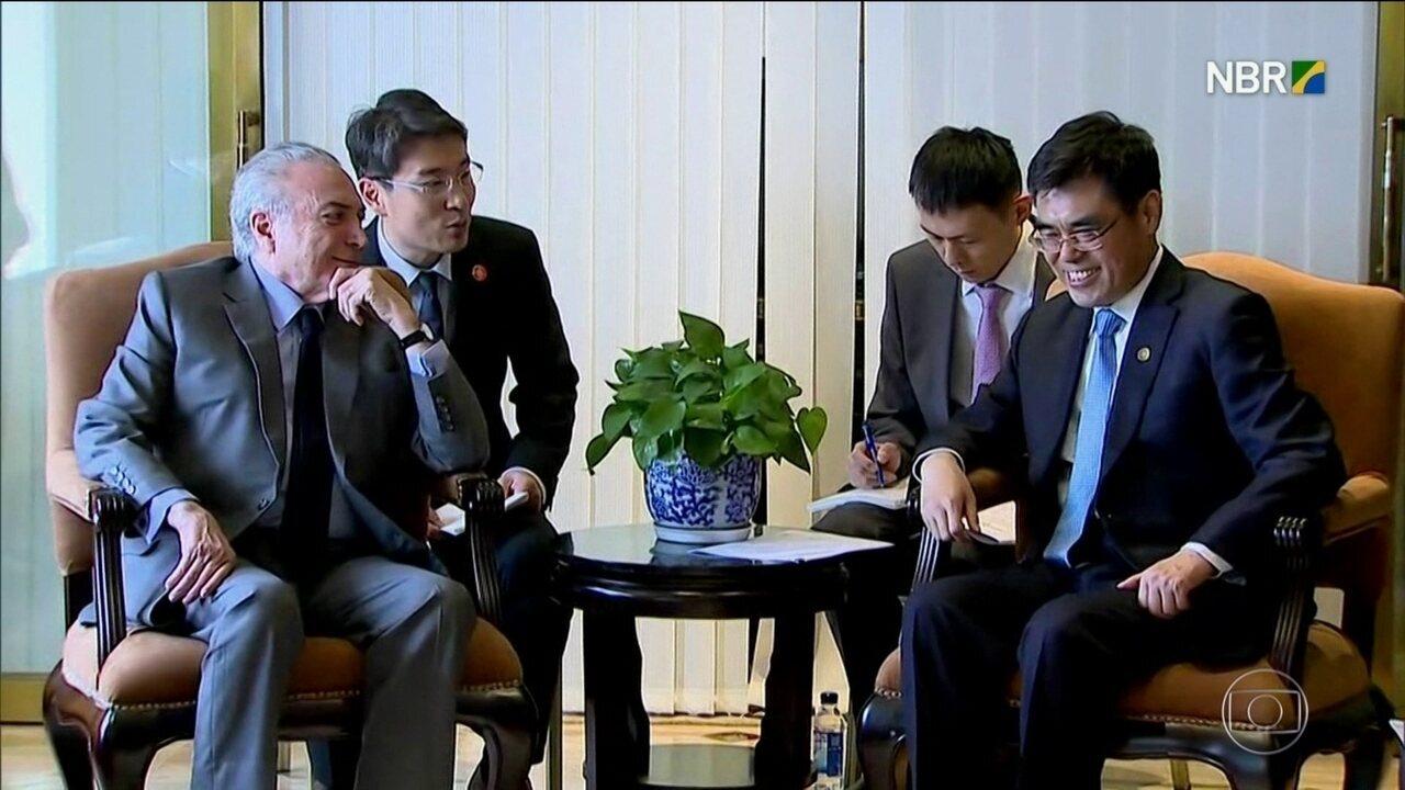 China faz promessas ao presidente Michel Temer