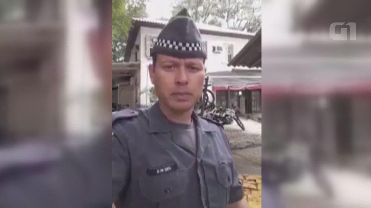 Soldado gravou vídeo dentro de batalhão dizendo ser vítima de tortura pela PM em São Vicente, SP