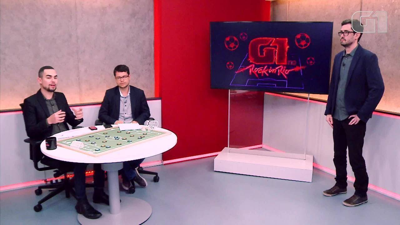 Mesa redonda do Rock in Rio: G1 faz análise futebolística do festival