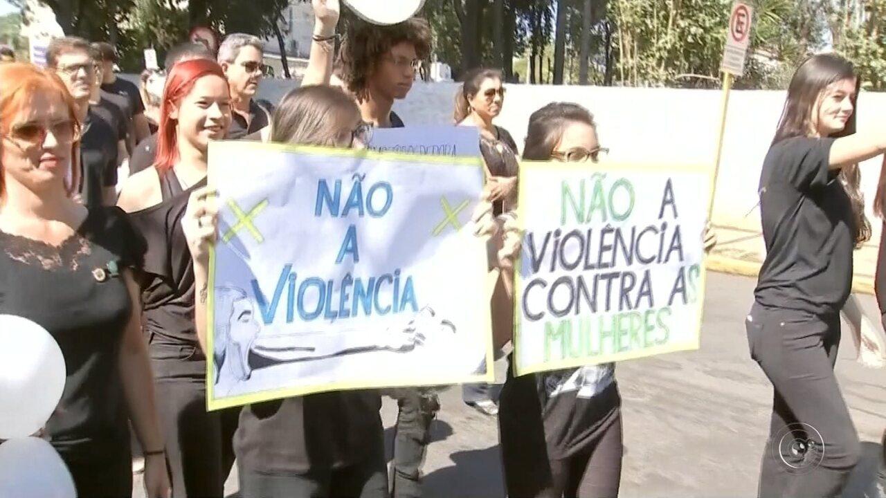 Imagens mostram o dia do suspeito de matar bancária em Tupã