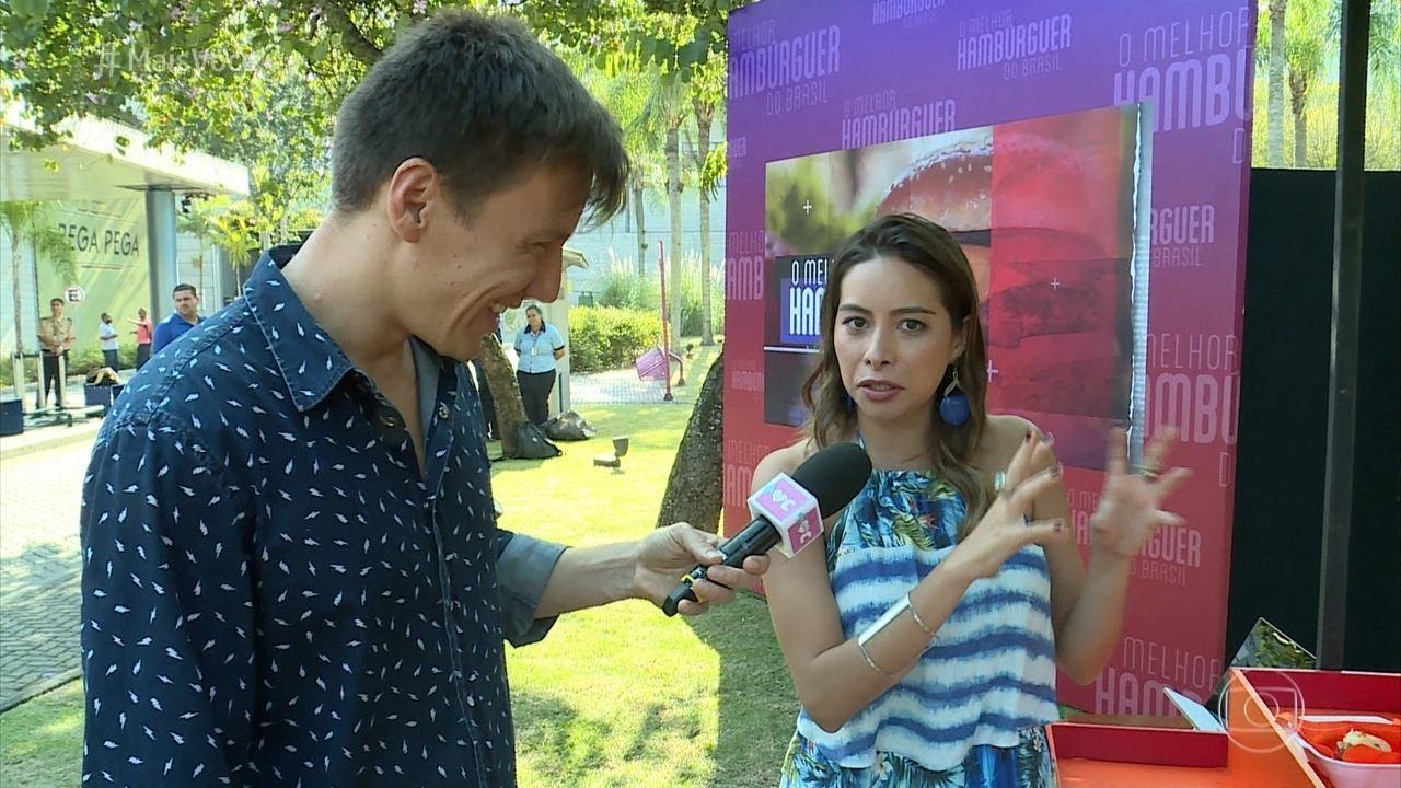 Funcionários dos Estúdios Globo experimentaram hambúrgueres finalistas