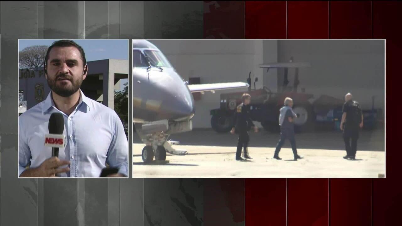 Joesley e Saud desembarcam em Brasília e já estão presos na PF