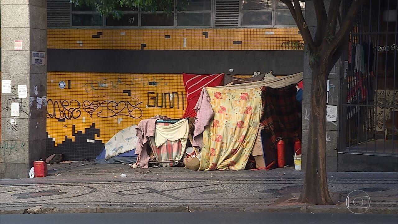 Número de moradores de rua aumente em Belo Horizonte
