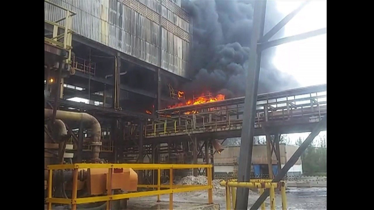 Incêndio atinge unidade da Vale em Rosário do Catete em Sergipe