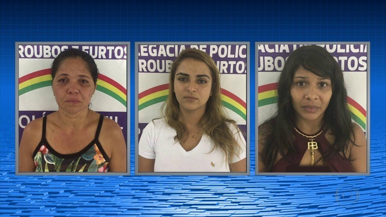 Polícia prende trio de mulheres suspeitas de assaltos a bancos no Grande Recife
