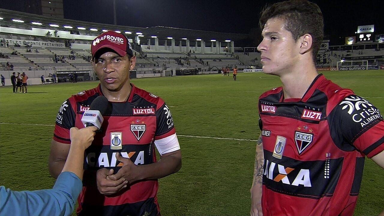 Walter fala sobre gol e passe para golaço contra a Ponte Preta