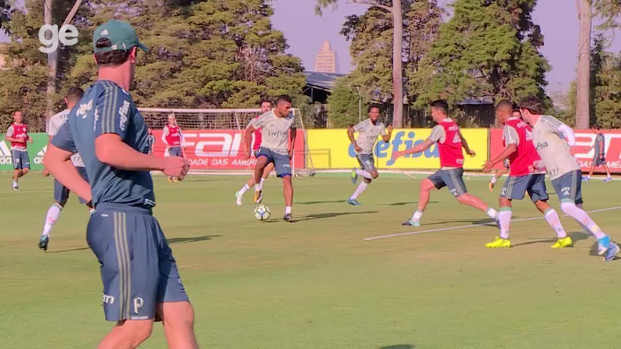Assista ao gol de Borja durante o treino do Palmeiras