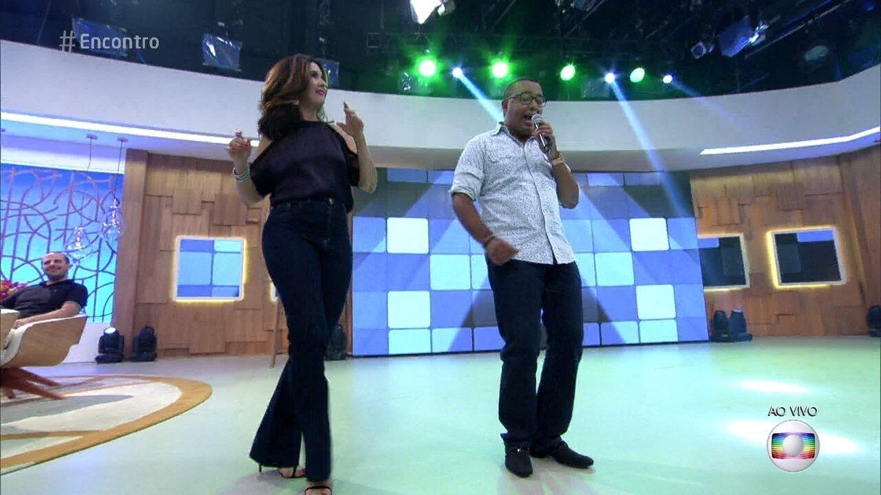 Fátima Bernardes samba ao som de Dudu Nobre