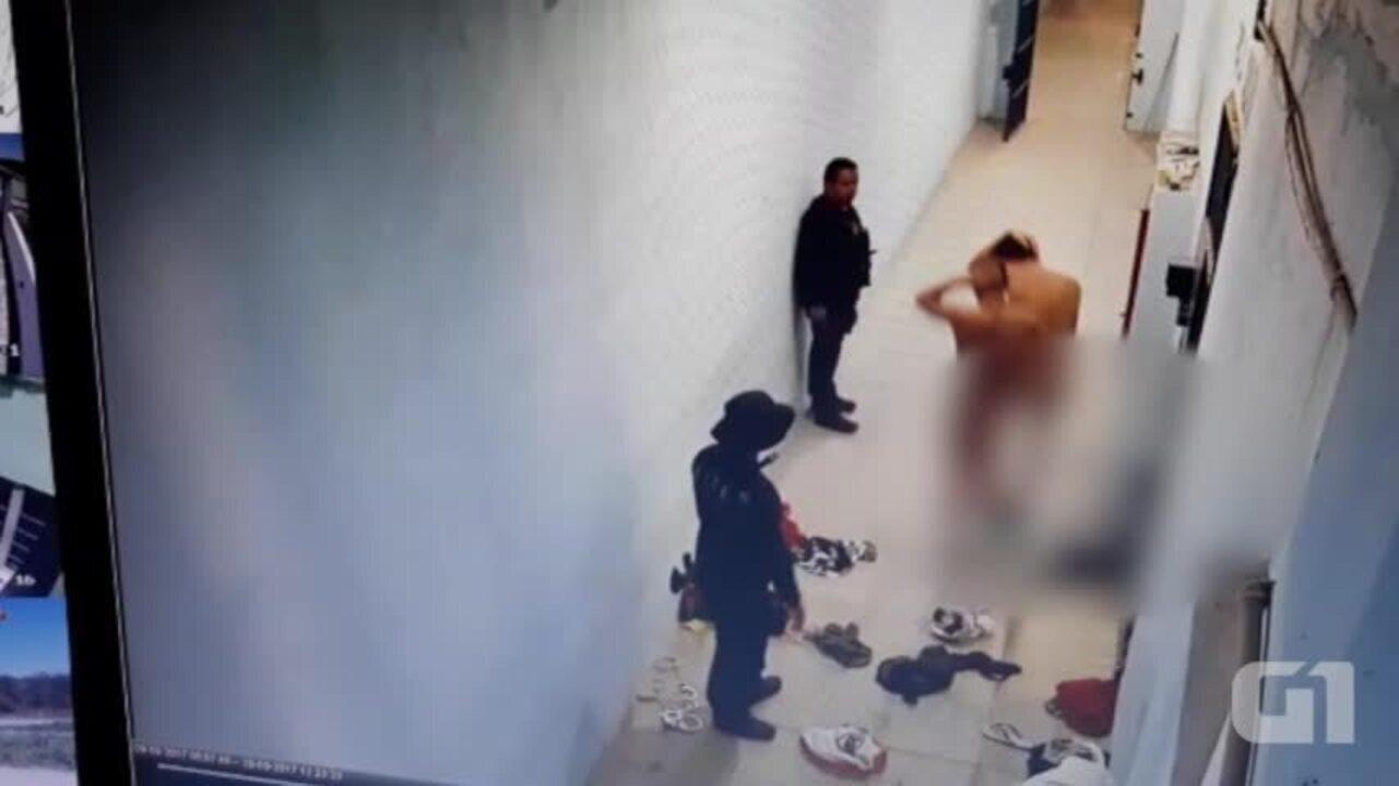Vídeo mostra presos sofrendo maus tratos na penitenciária de Campo Maior. (Divulgação/Sinpoljuspi)