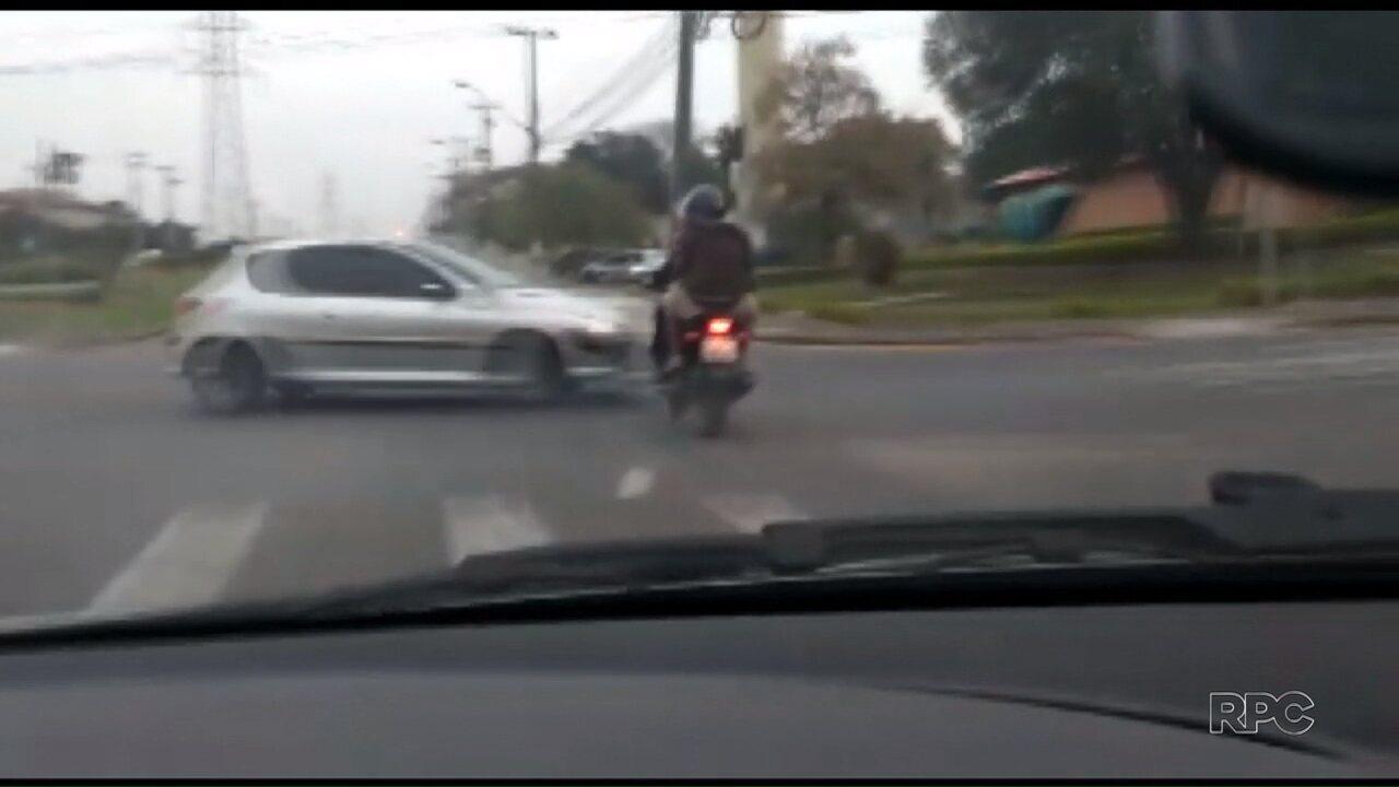 Motociclistas sofrem acidente durante perseguição policial