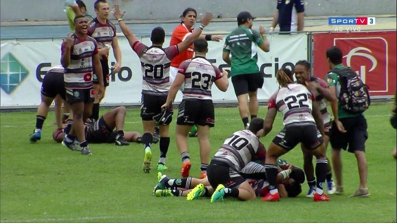 Jacareí é campeão do Super 8 de Rugby após vencer o Farrapos por 16 a 15
