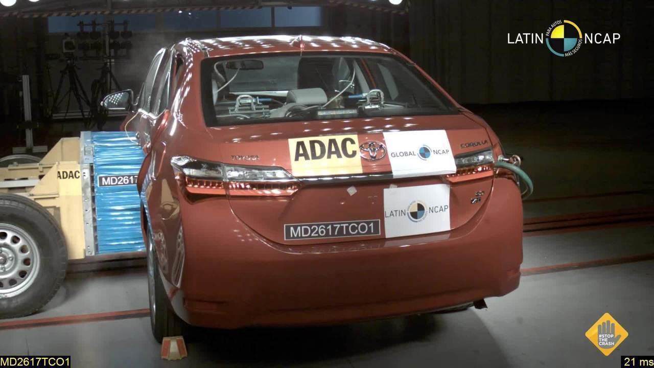 Toyota Corolla recebe 5 estrelas em teste de colisão do Latin NCap