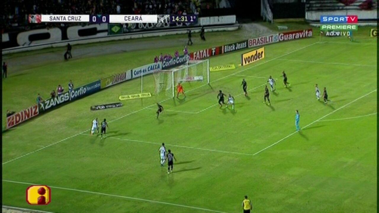 Assista aos melhores momentos de Santa Cruz 0 x 0 Ceará pela 26ª rodada da Série B