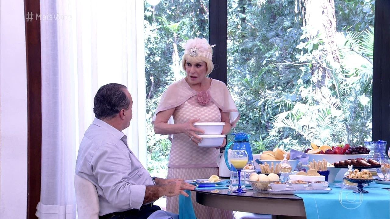 Ana Maria prepara quentinha para Tony Ramos
