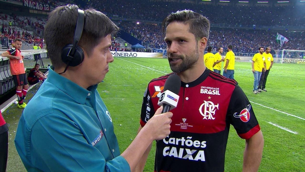 Diego lamenta derrota do Flamengo para o Cruzeiro: