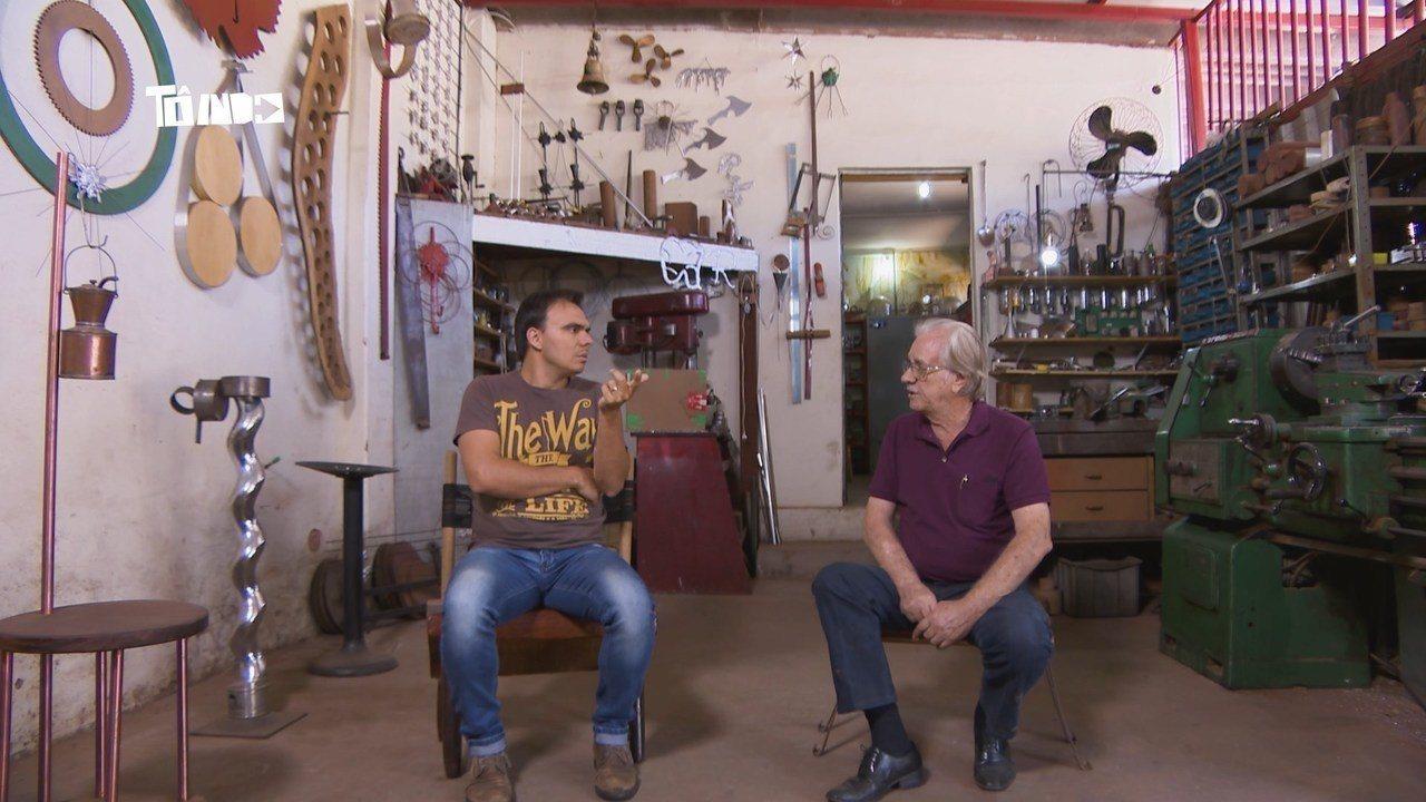 Reveja: Mário conhece oficina incrível de Rodolfo Valente