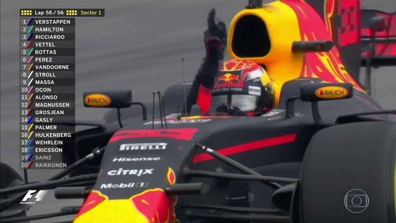 Última volta do GP da Malásia com vitória de Verstappen
