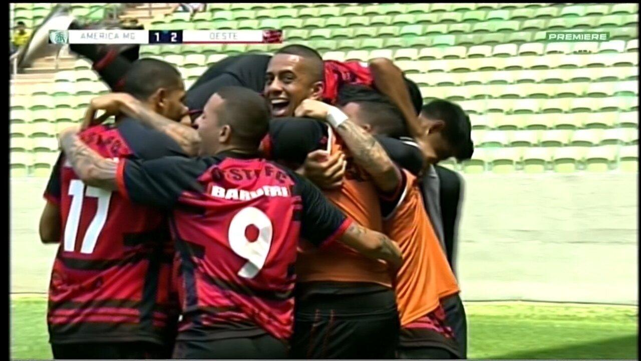 Confira os melhores momentos da vitória do Oeste contra o América-MG por 2 a 1