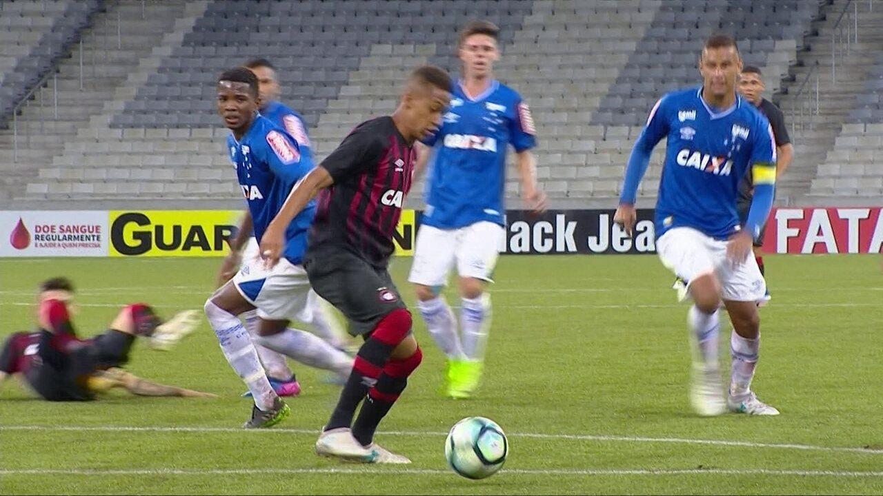 Os gols de Atlético-PR 1 x 1 Cruzeiro pelo Campeonato Brasileiro sub-20