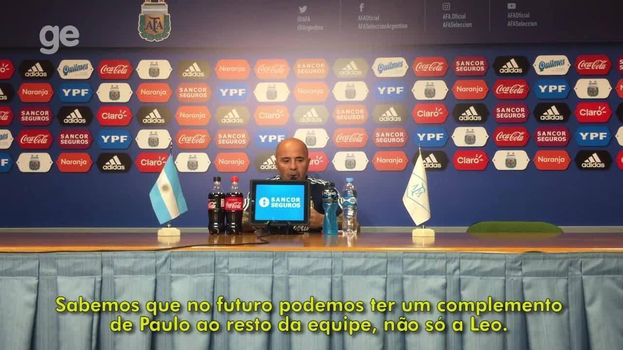 Jorge Sampaoli analisa a ausência de Paulo Dybala no time titular