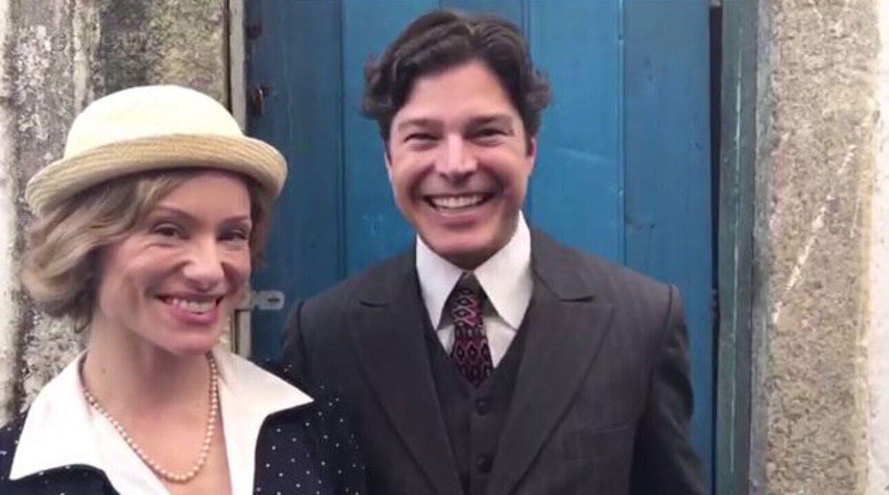 Veja os bastidores da gravação de 'Tempo de Amar' com Erik Marmo e Giselle Prattes