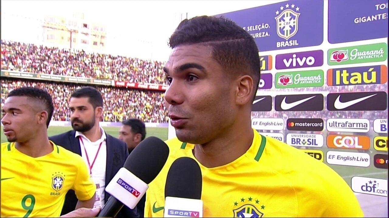 Casemiro elogia goleiro da Bolívia no empate em La Paz:
