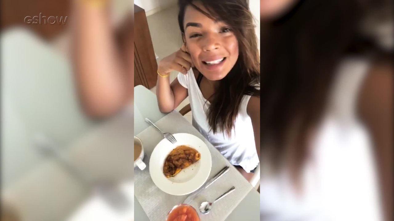 Nathalia Zannin mostra café da manhã balanceado