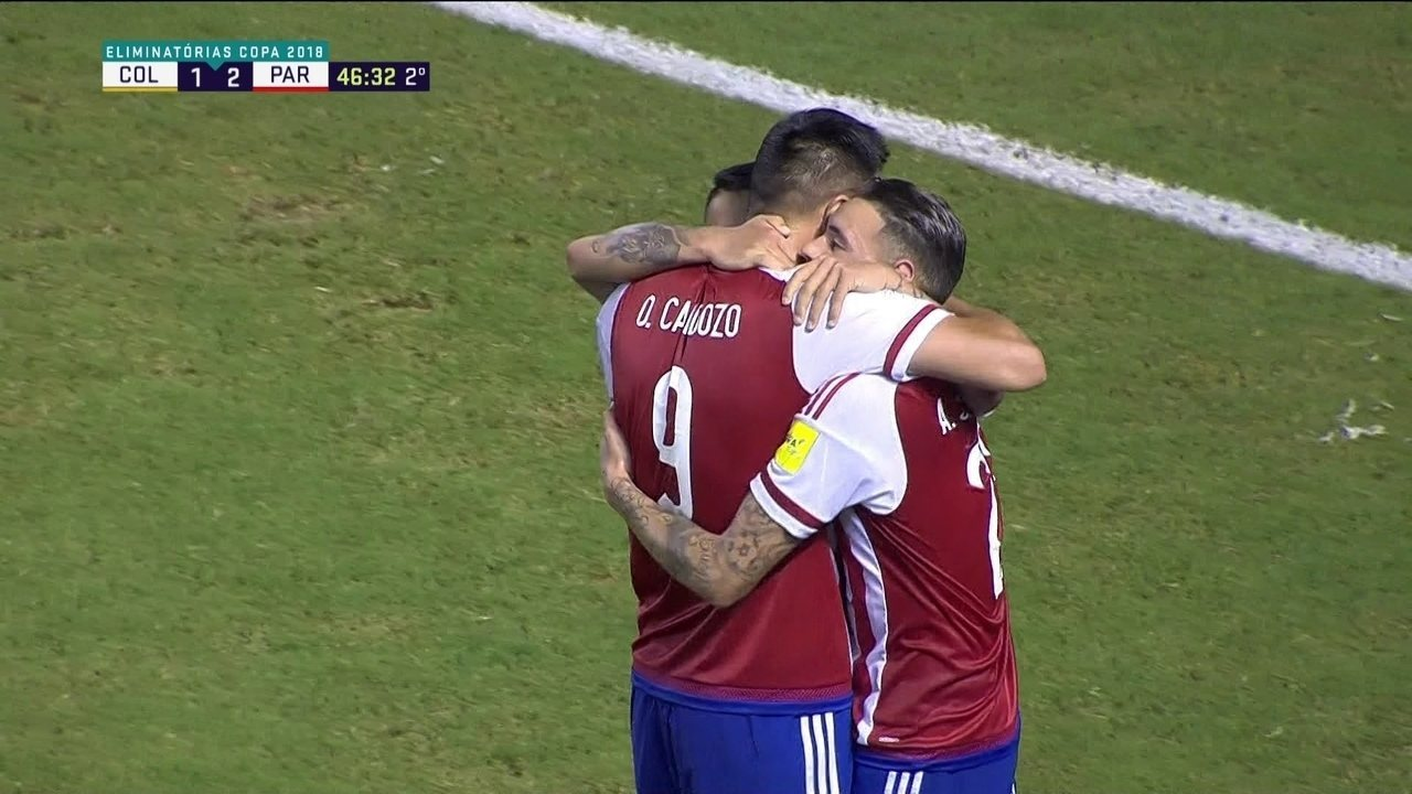 Os gols de Colômbia 1 x 2 Paraguai pela 17ª rodada das Eliminatórias para a Copa