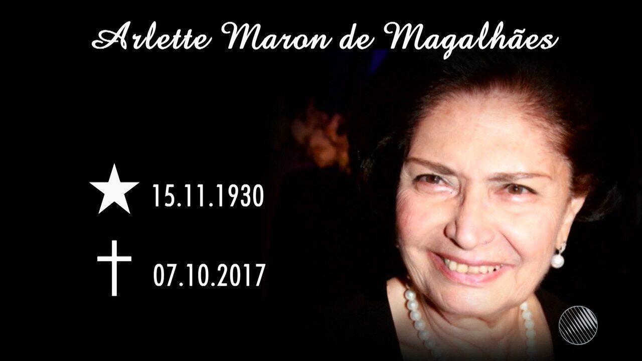 Arlette Magalhães, viúva de ACM, morre aos 86 anos