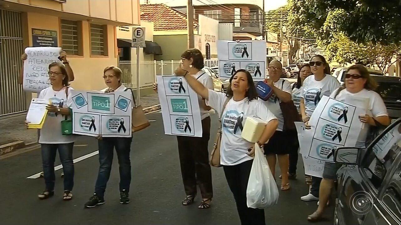 Diabéticos fazem protesto em Marília por falta de insulina