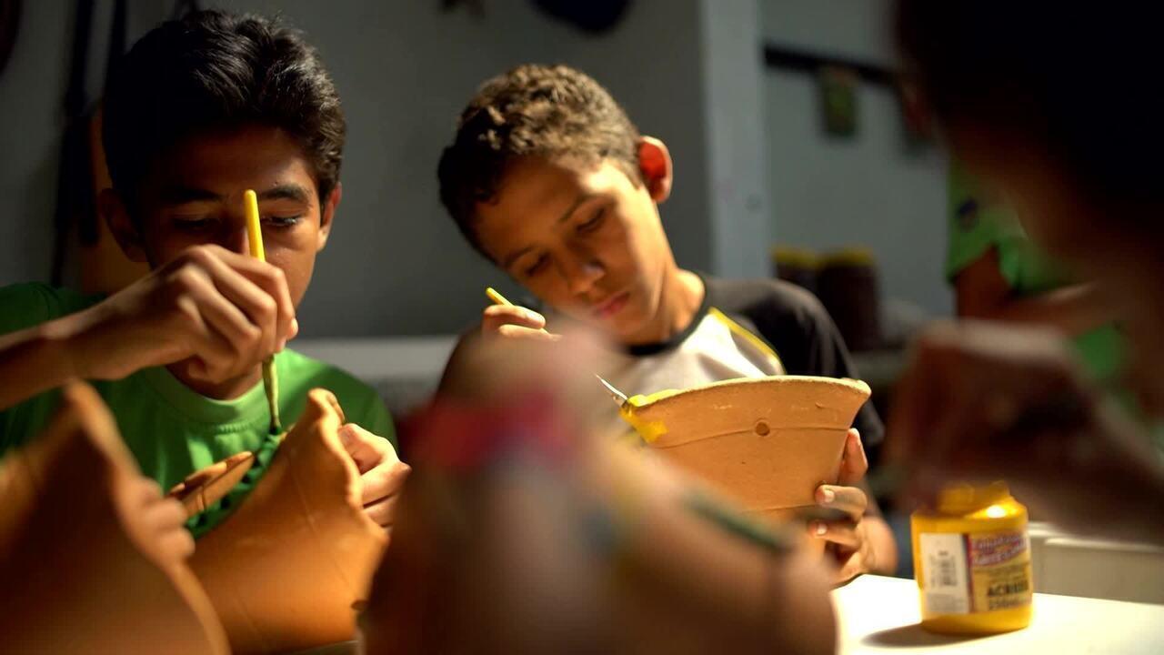 Projeto Verde Vida, no Ceará, oferece formação educacional e artística