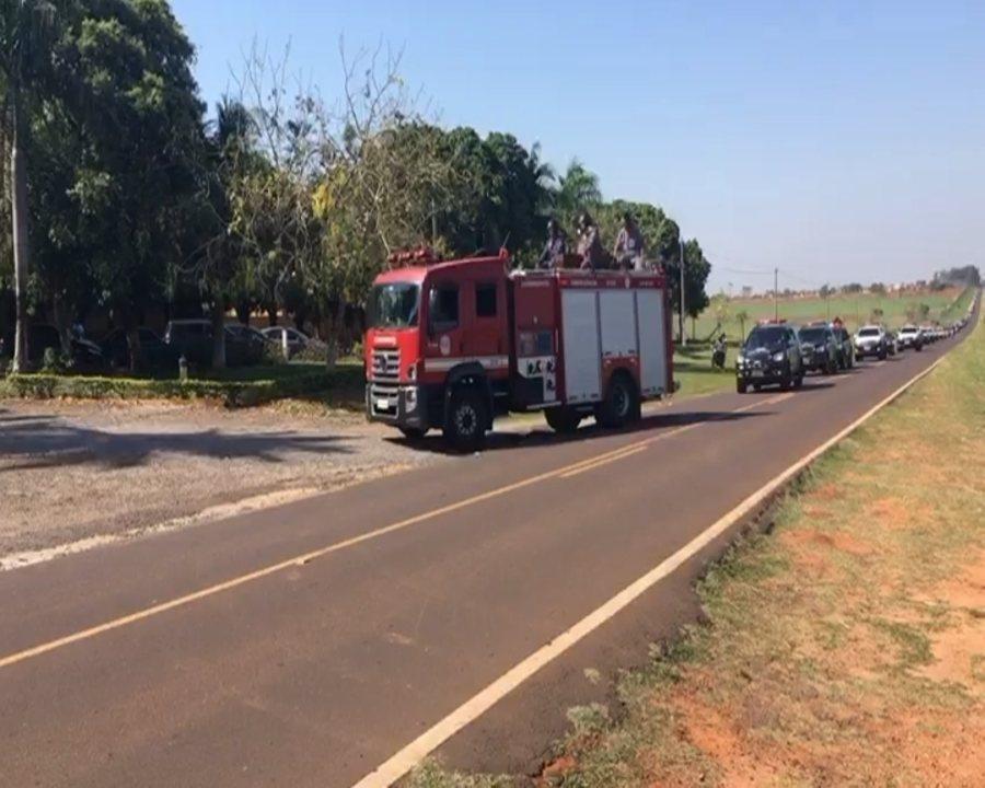 Policial civil morto em assalto à empresa de valores é enterrado em Araçatuba