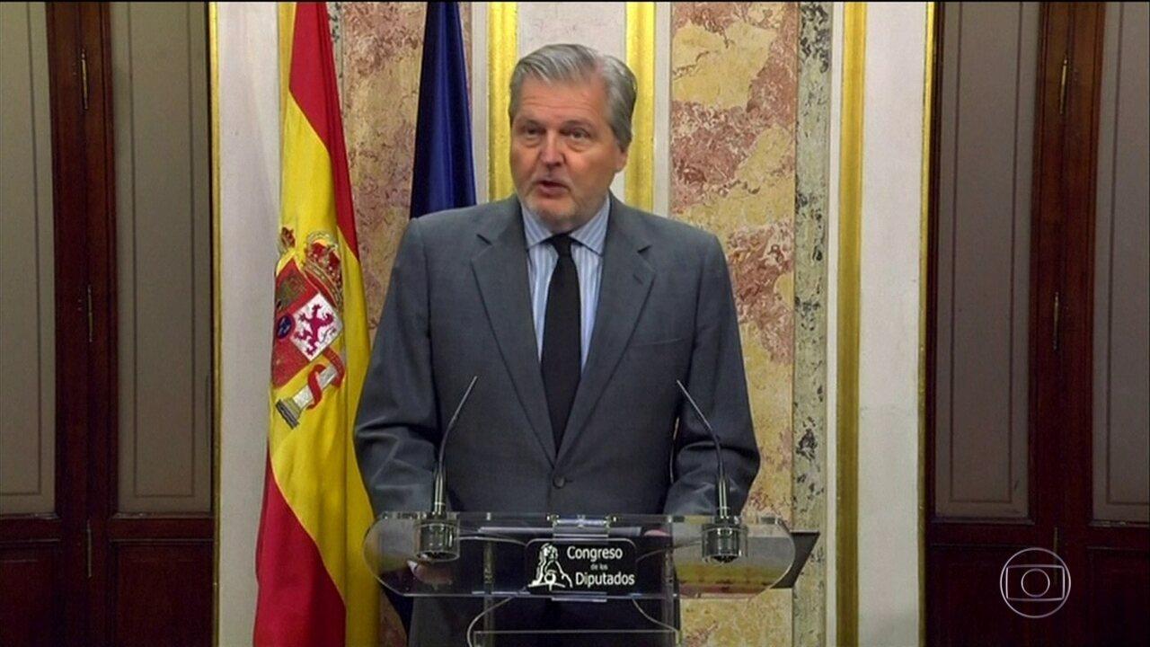 Madri vai tomar as primeiras medidas para suspender a autonomia da Catalunha