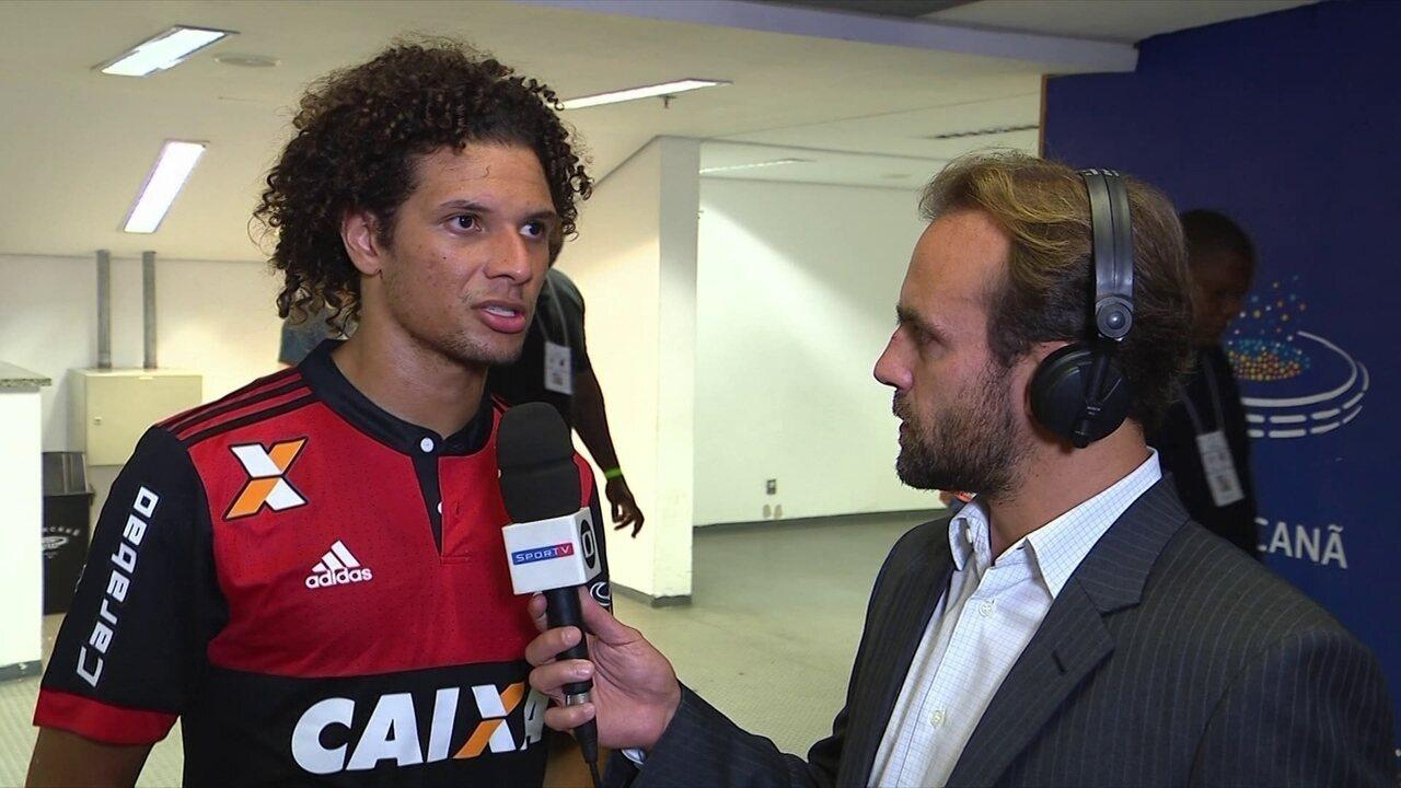 Willian Arão avalia vitória do Flamengo sobre o Fluminense pelas quartas da Sul-Americana