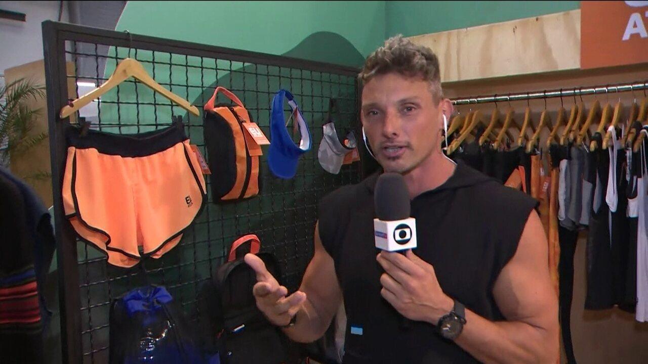 Juliano Ceglia mostra a linha de roupas e acessórios do Eu Atleta by Wollner