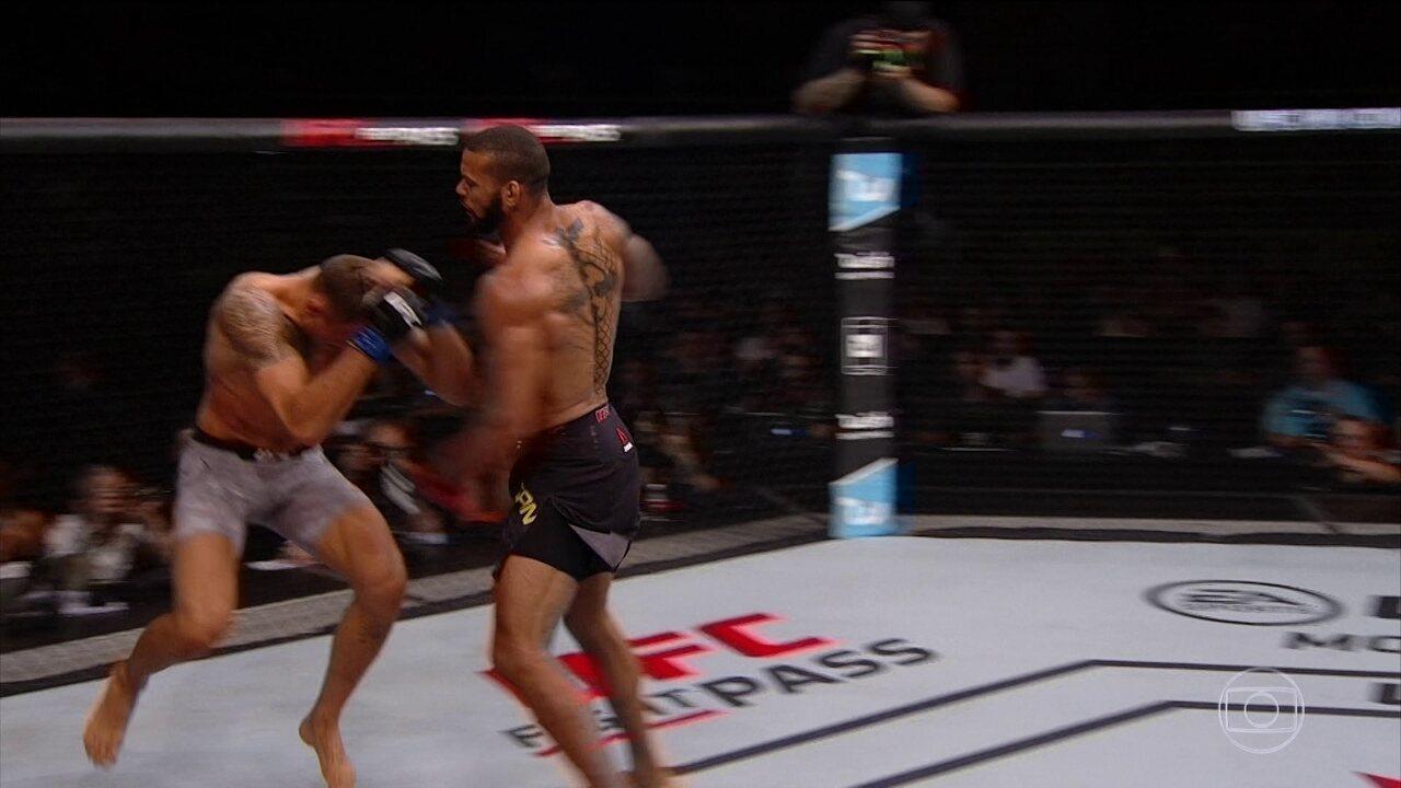 Thiago Marreta bate Jack Hermansson com lindo nocaute no peso-médio do UFC São Paulo