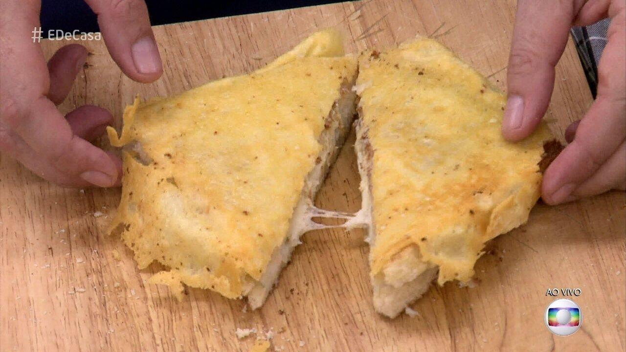 Aprenda a fazer queijo quente especial para o café da manhã