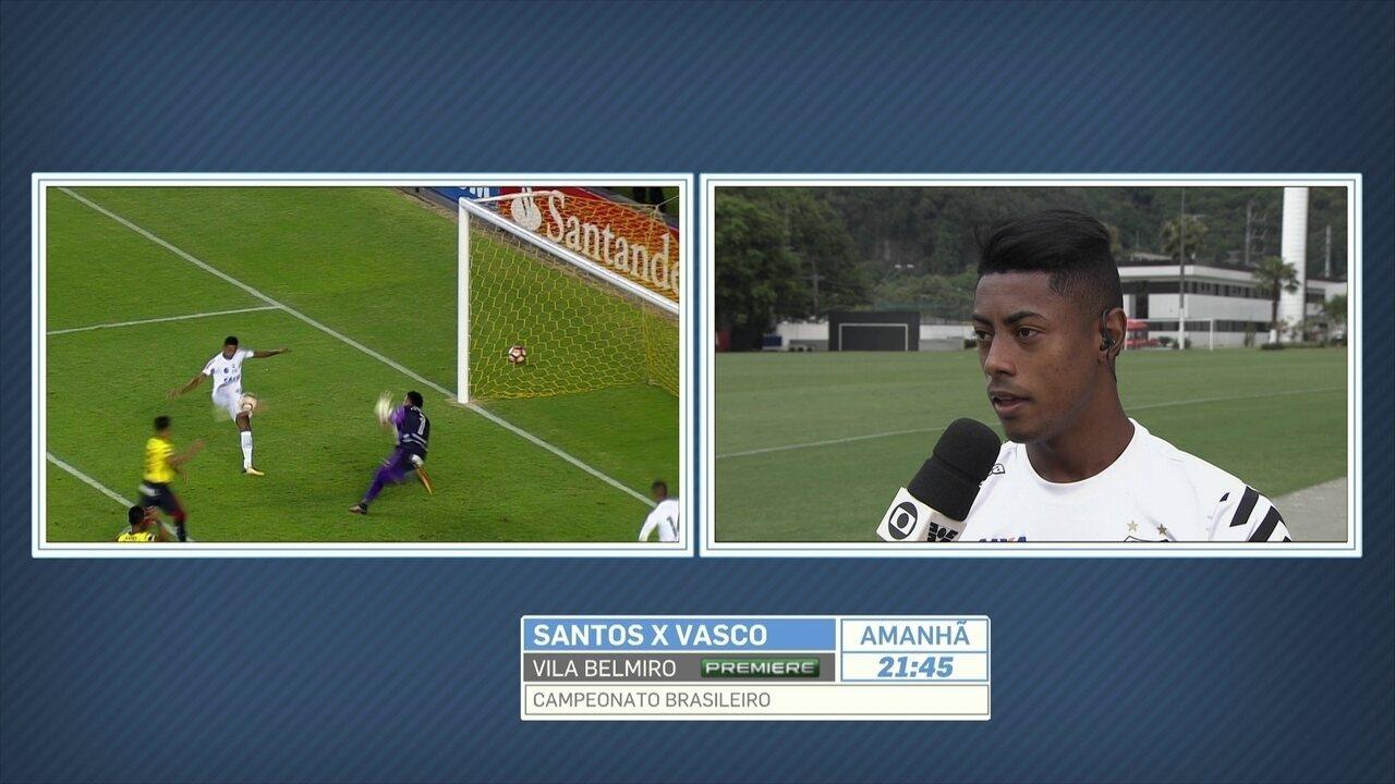 Bruno Henrique diz que estar muito identificado com o Santos: