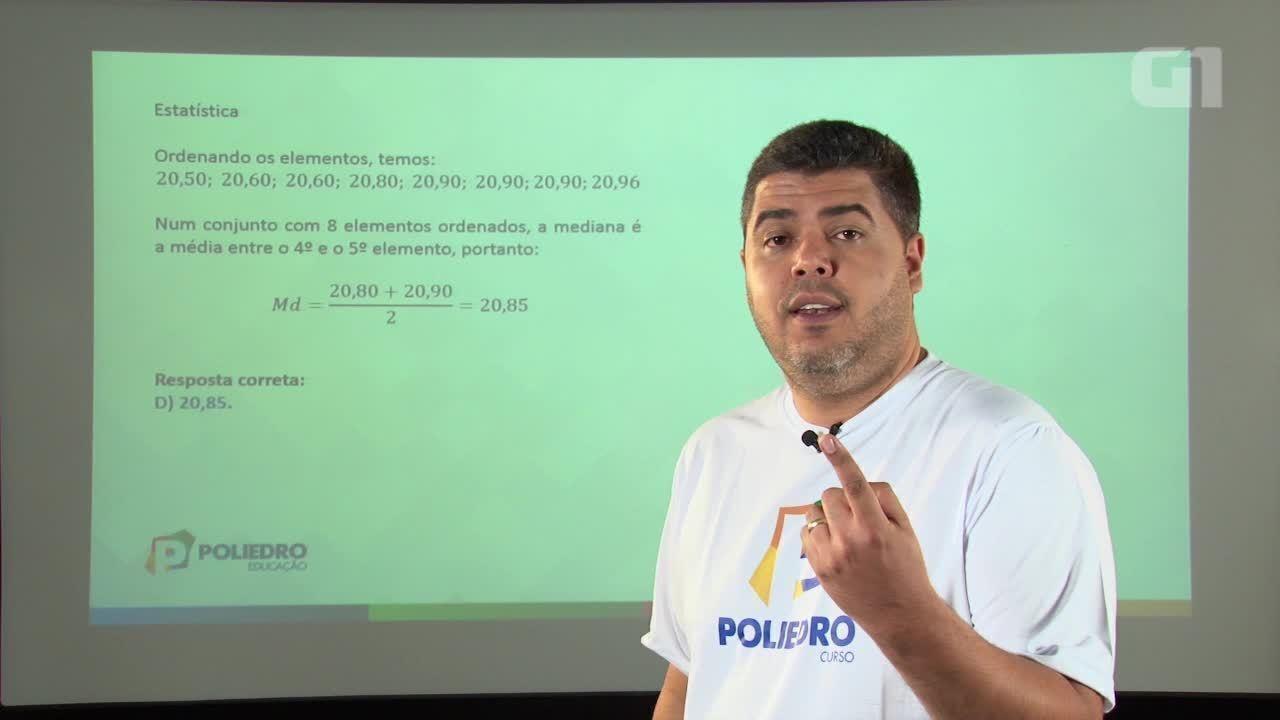 Revisão Enem - Matemática - Resolução da questão 143 da prova azul do Enem 2015