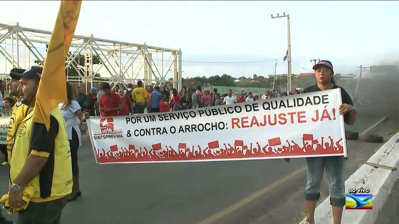 Centrais sindicais protestam no Maranhão contra reforma trabalhista