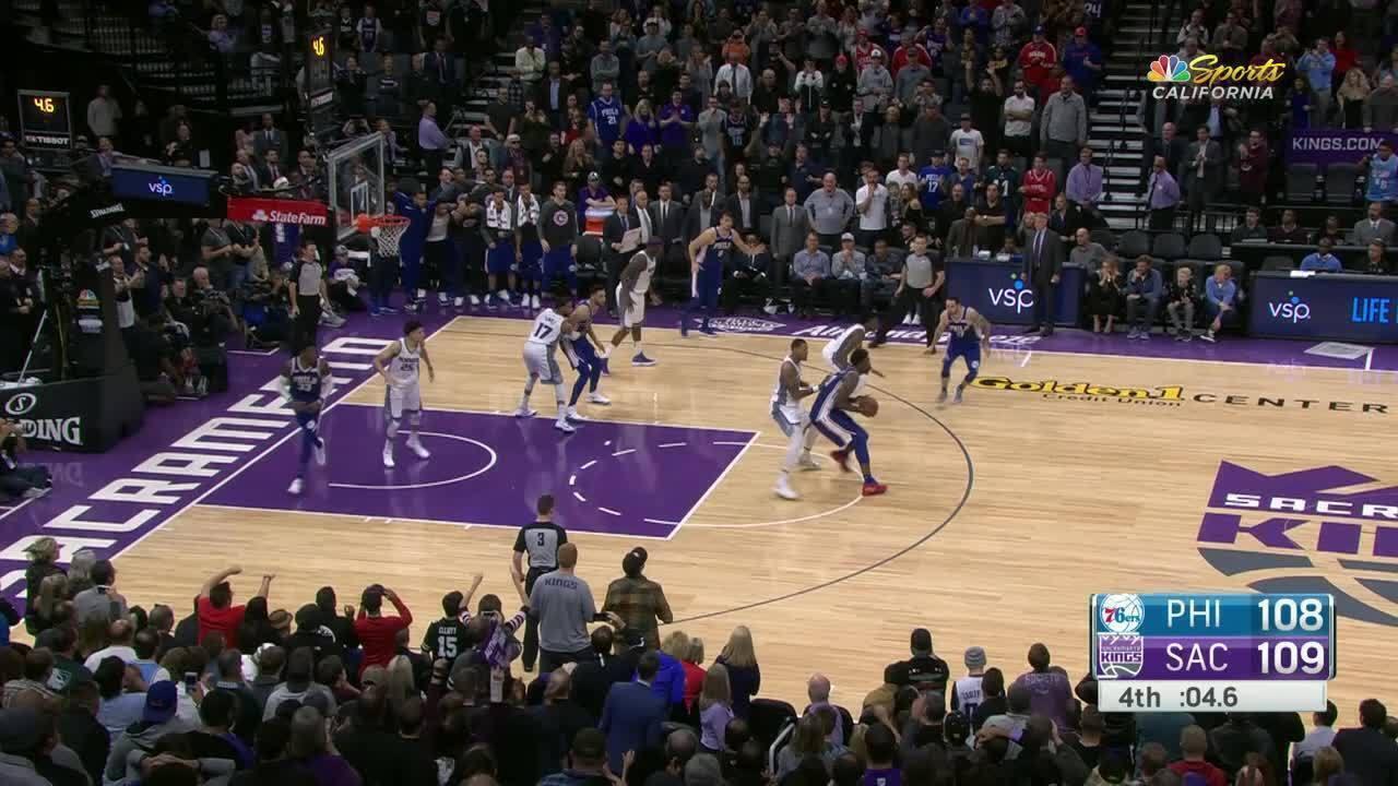 Melhores momentos: Philadelphia 76ers 108 x 109 Sacramento Kings pela NBA