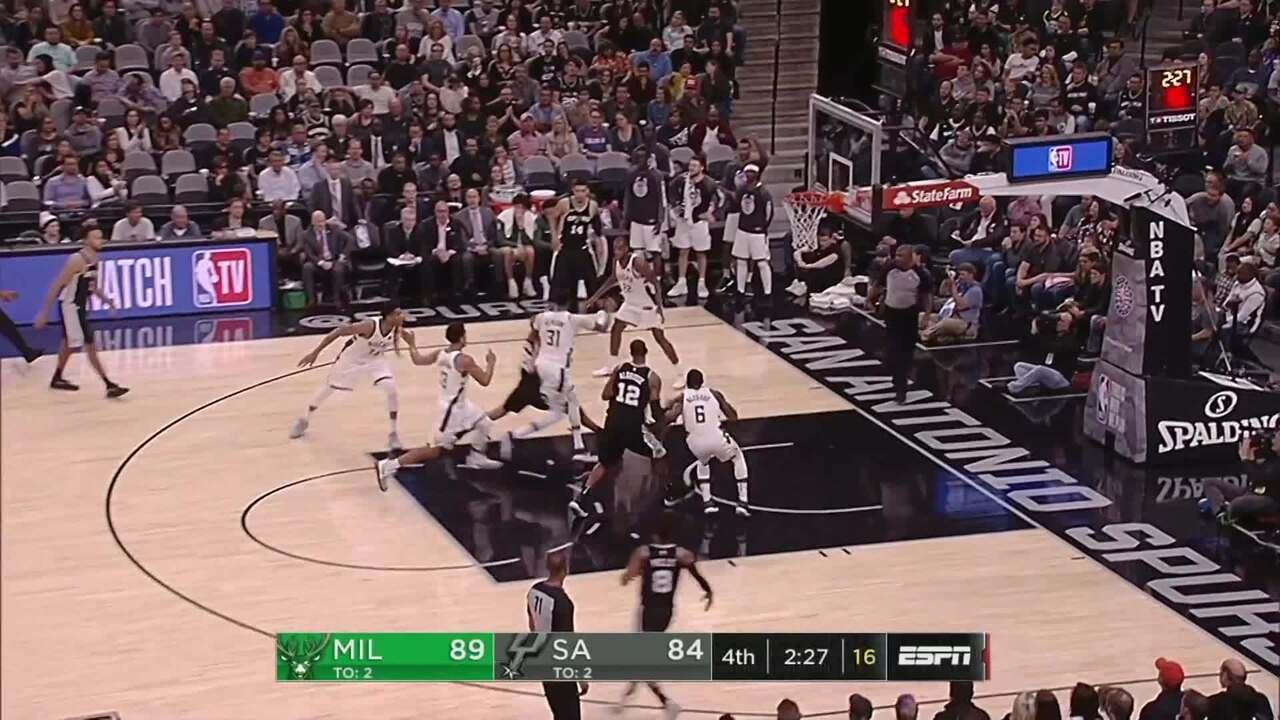 Melhores momentos: Milwaukee Bucks 94 x 87 San Antonio Spurs pela NBA