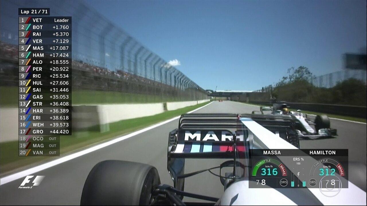 Hamilton não para! Massa é a mais nova vítima