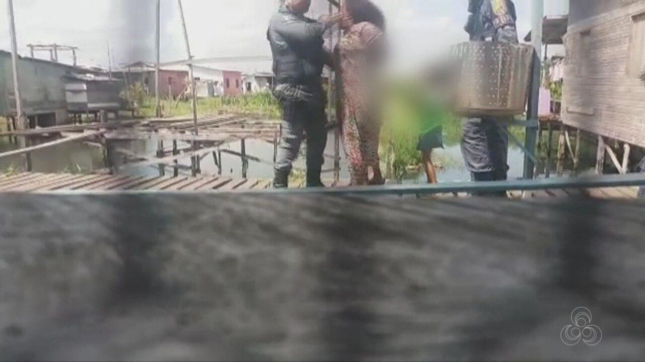 PM dá tapa em mulher denunciada por agredir filhos em Macapá