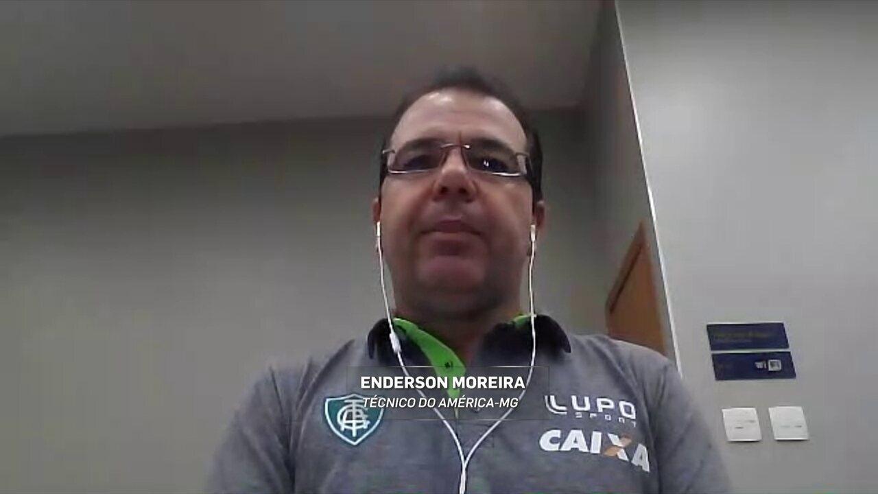 Enderson Moreira comemora acesso do América-MG à Série A