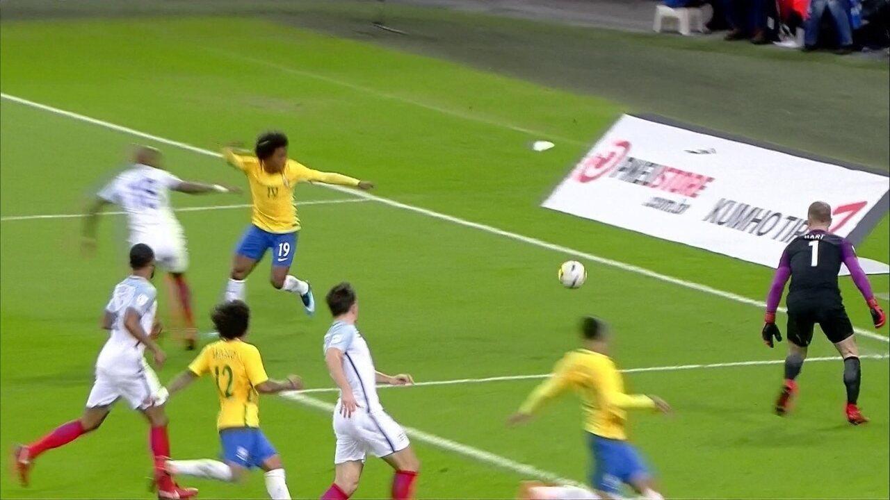 Melhores momentos: Inglaterra 0 x 0 Brasil em amistoso internacional