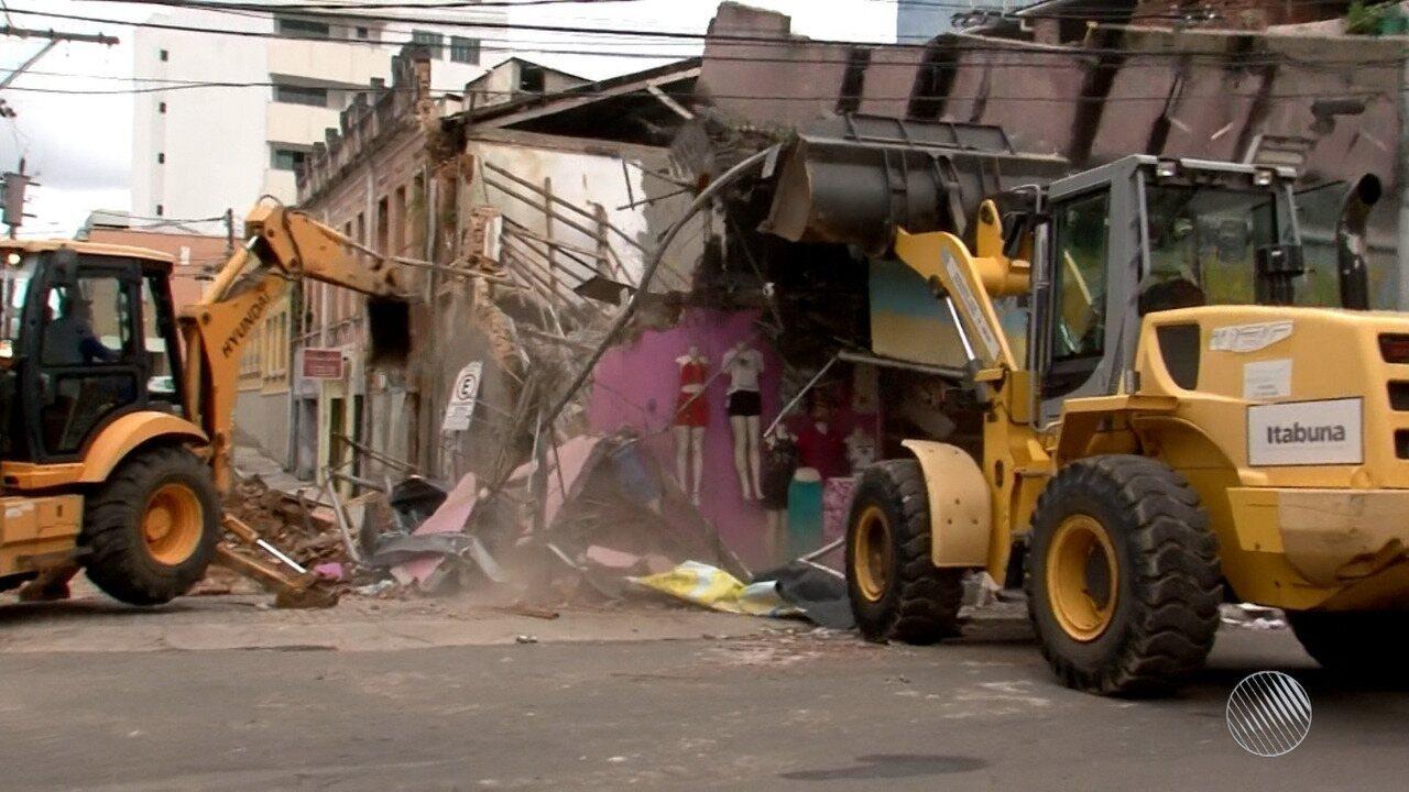 Desabamento em Itabuna: três dos cinco feridos já receberam alta médica